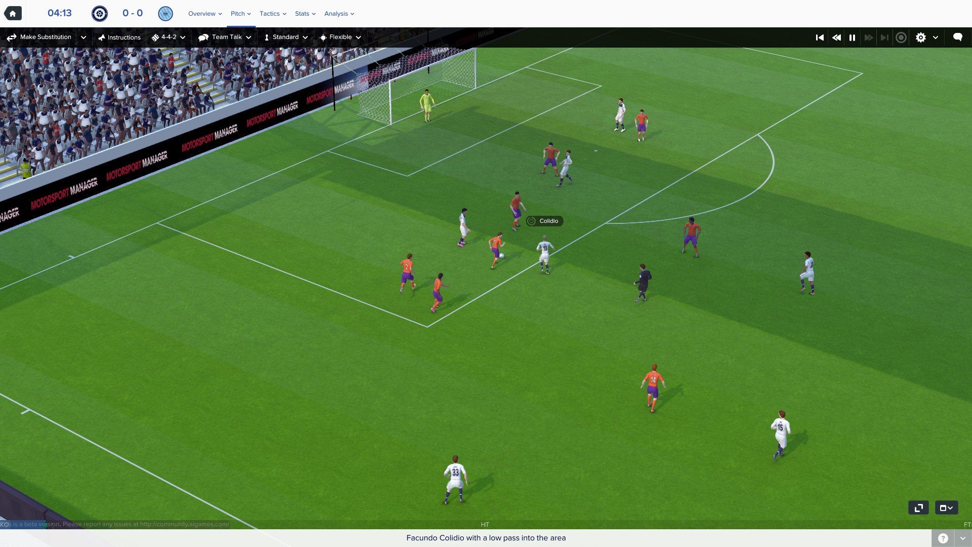 Football Manager's immersive 3D match mode