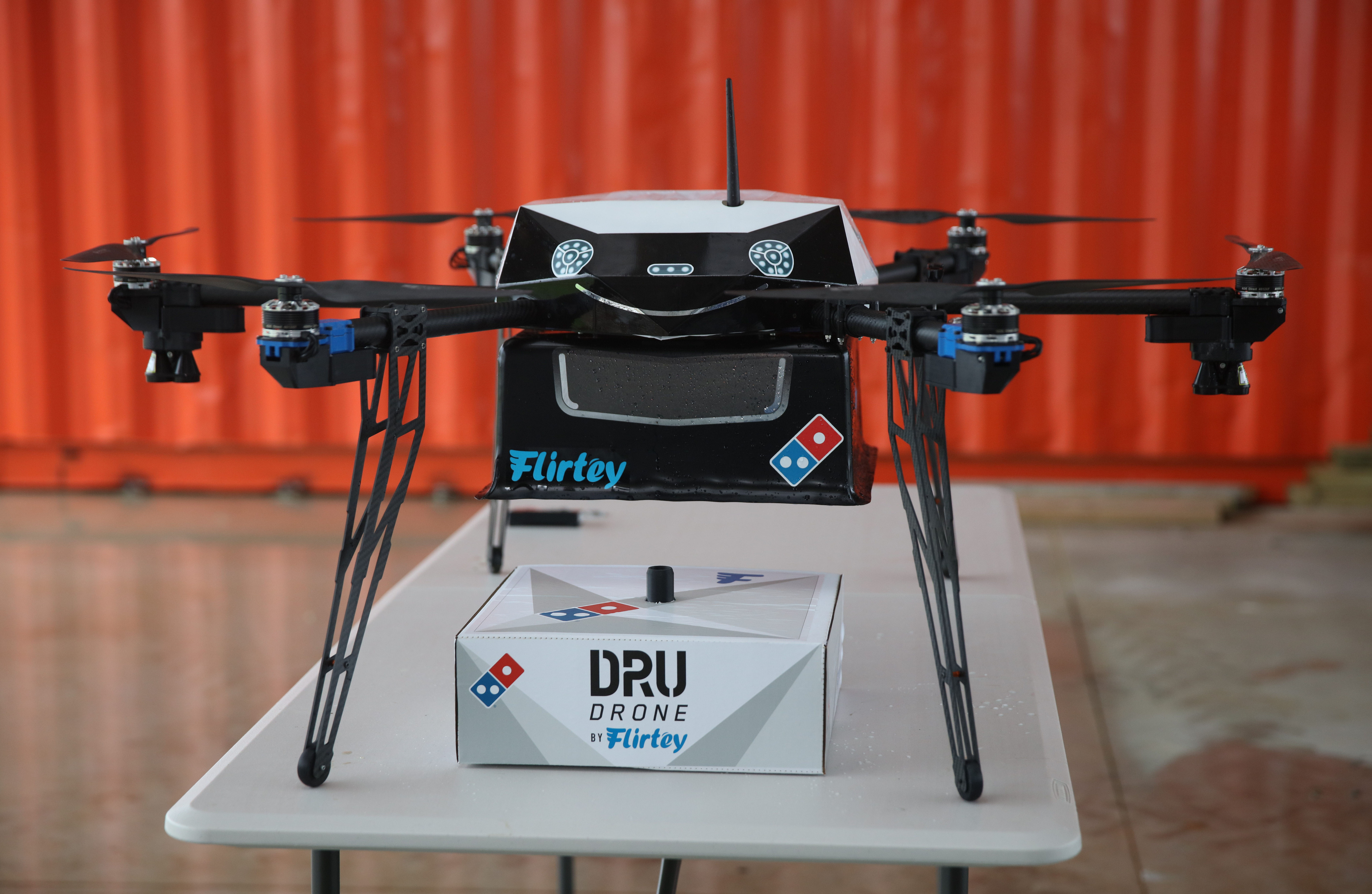 Domino's Pizza has its own airborne delivery programme that it is trialling.
