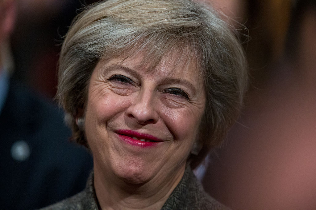Prime minister Theresa May at the Tory party's conference in Birmingham.