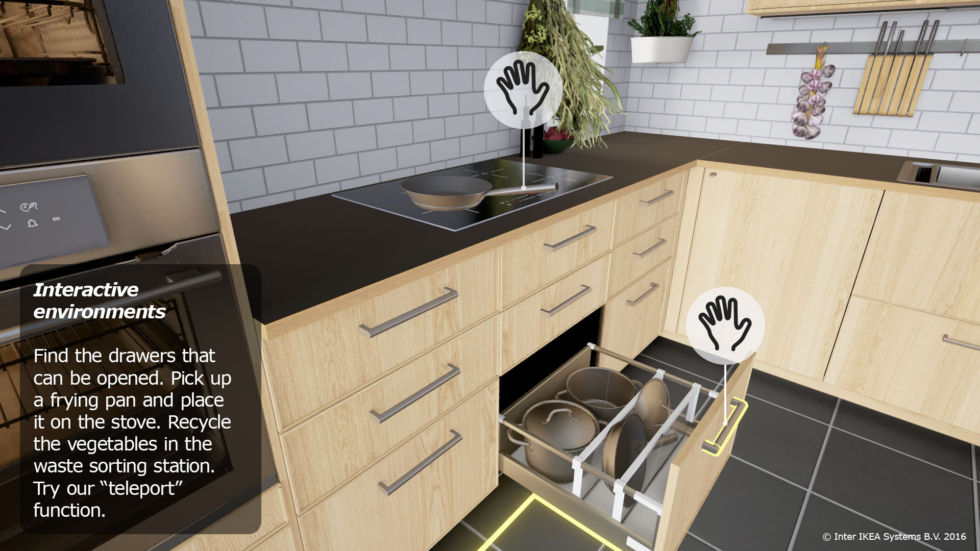 The Ikea VR app in all its glory.