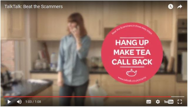 A selection of TalkTalk's advice from its recent Beat The Scammers campaign