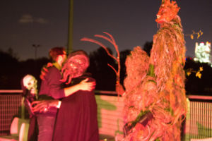 That's me, hugging a shogghast at the end of the evening.