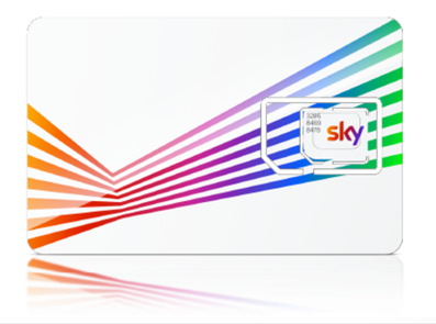 A pretty image of the Sky Mobile SIM card.