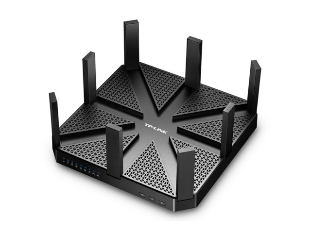 The TP AD7200 is an imposing Wi-Fi router.