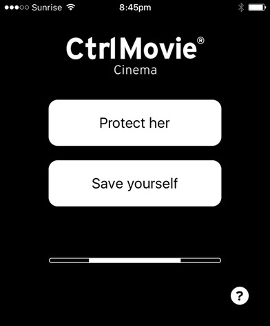 This is what you see on your smartphone when making a decision. (CtrlMovie is the company behind the tech being used by <em>Late Shift</em>.)
