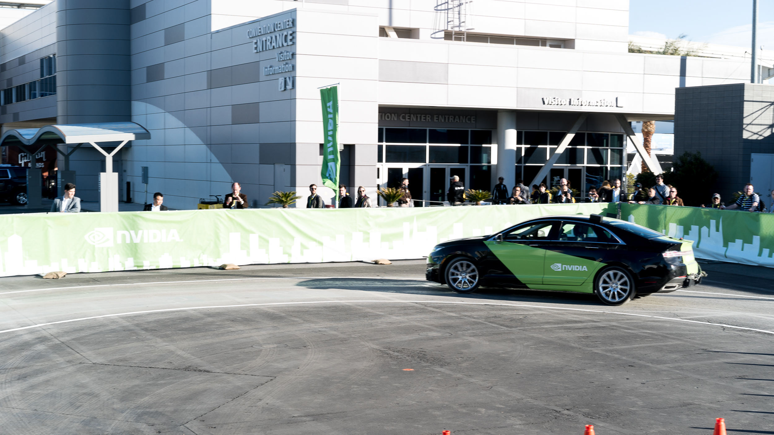 The test track at CES might have been small, but it made the tech no less impressive.