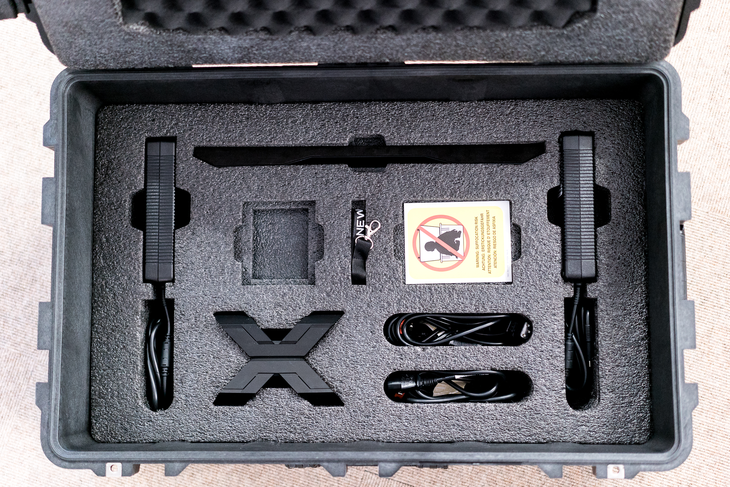 The 21X comes inside a huge flight case housing all its accessories.