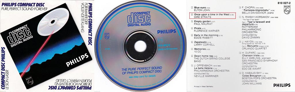 "An '80s Philips promo disk with the the tagline ""Pure, Pefect Sound Forever."""