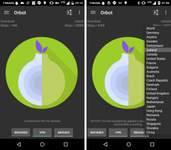 OrBot, the official Tor routing service for Android.