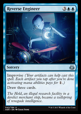 <em>Improvise</em> lets you help pay mana costs with your artifacts. Historically such mechanics have been very powerful.