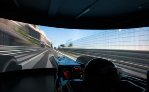 Formula 1 teams have highly detailed car simulators, to augment the limited amount of live track testing.