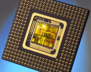 The original Pentium chip, released in 1993. 3.1 million transistors!