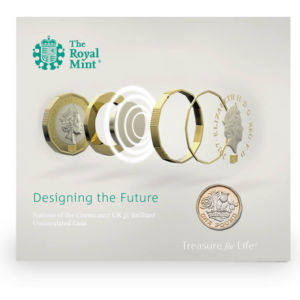 An illustration of the new pound coin from the Royal Mint. Presumably the white magical bit is the hidden security feature.