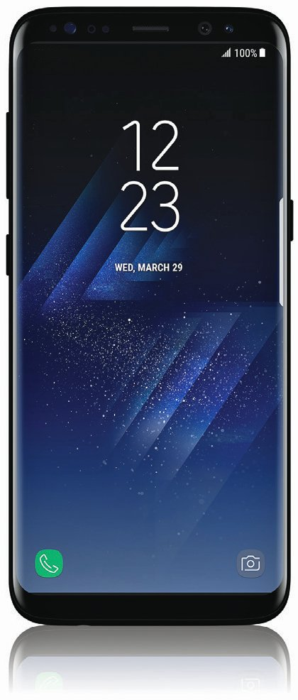 A previously leaked image of the front of the Galaxy S8.