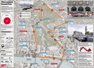 Proposed F1 London street circuit (2012).