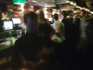 A low-light shot from the S8 taken in a bar. It's so blurry it's unusable.