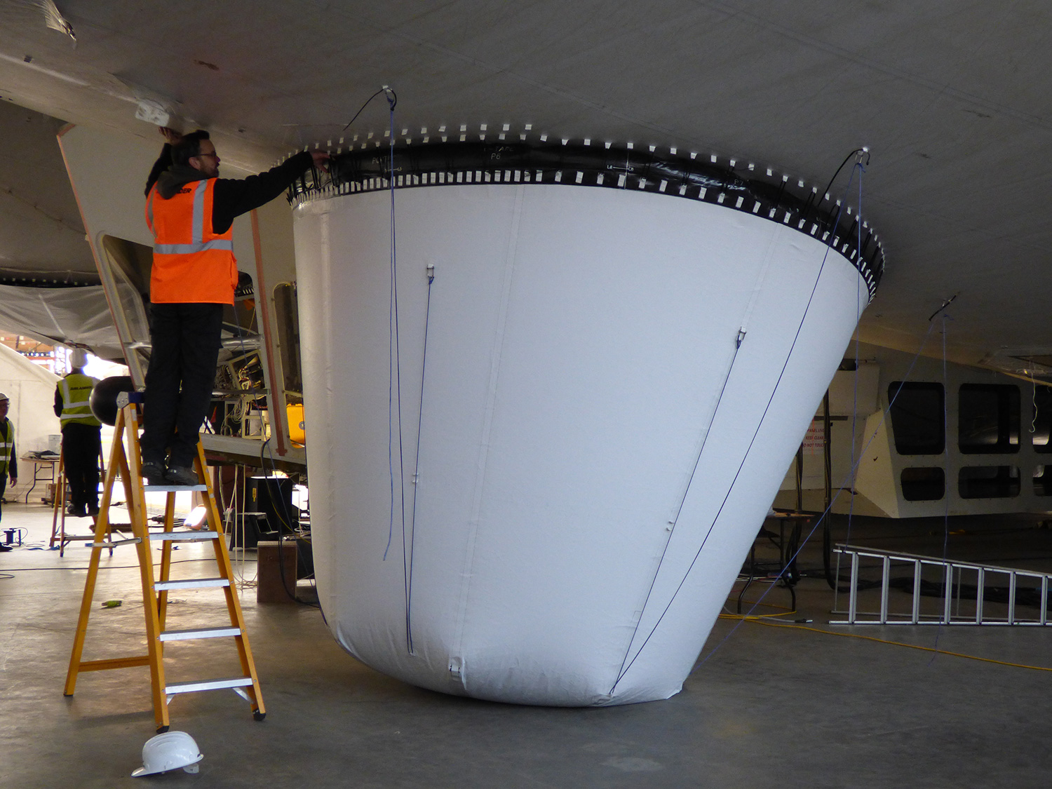 One of Airlander 10's new airbags.
