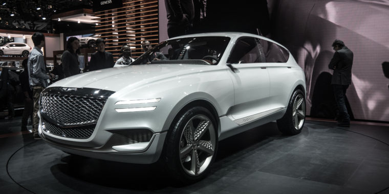 the genesis gv80 hydrogen fuel cell suv is stunning ars technica uk. Black Bedroom Furniture Sets. Home Design Ideas