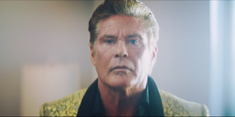 David Hasselhoff acts out dialogue - 242.3KB