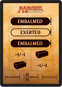 A perforated token is included in some booster packs of <em>Amonkhet</em>.