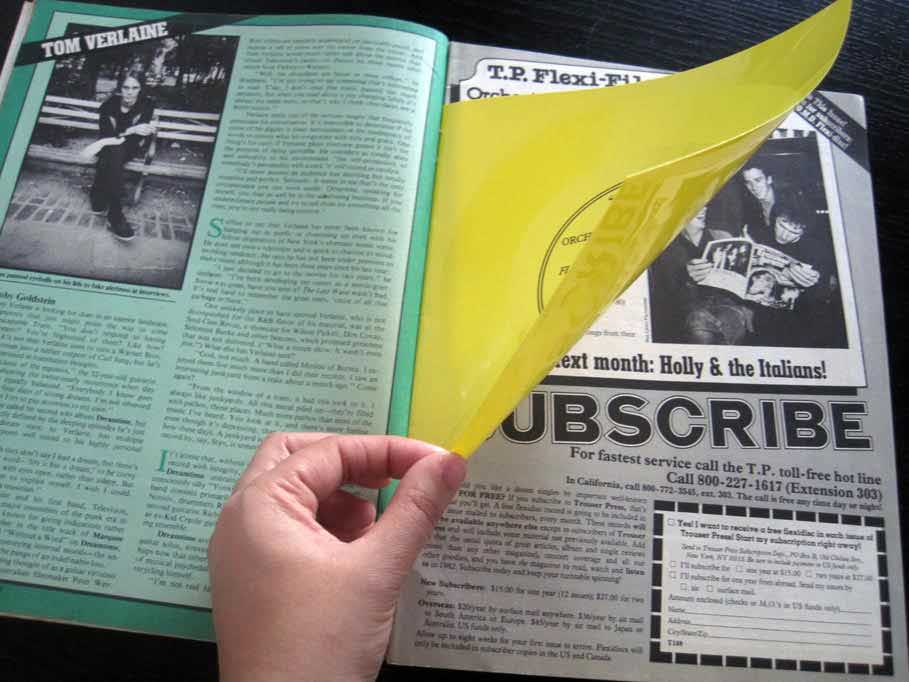 The relatively new Electronic Sound magazine, with a flexi disc inside.