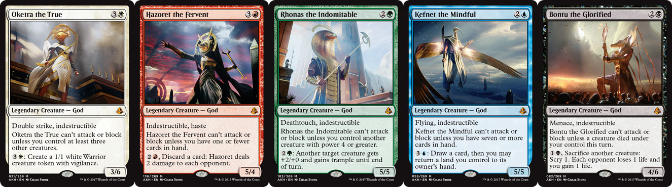 The five Gods of Amonkhet.