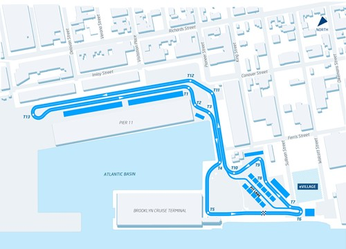 The Brooklyn street circuit for Formula E in July.