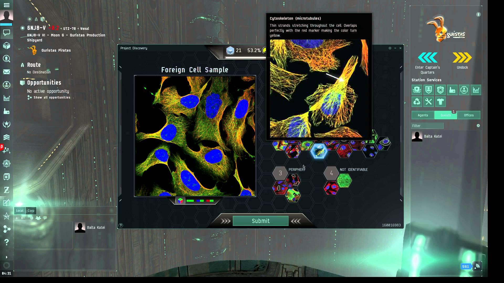 Protein discovery inside <em>Eve Online</em>.