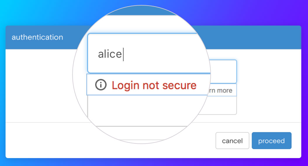 Opera Reborn prompts you on non-HTTPS pages.