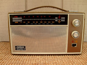 "A classic AM/FM radio. Note the ""MC"" and ""KC"" labels - which stands for megacycles and kilocycles. Which are exactly the same as Hertz..."