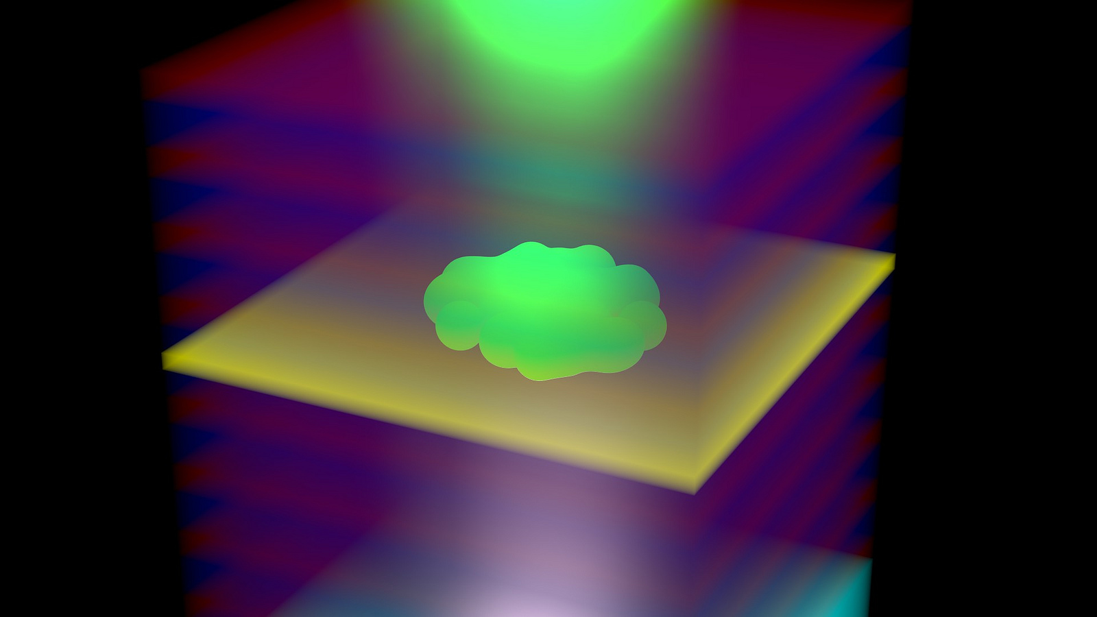 A slightly more mundane simulated pic of what a Bose-Einstein condensate actually looks like.