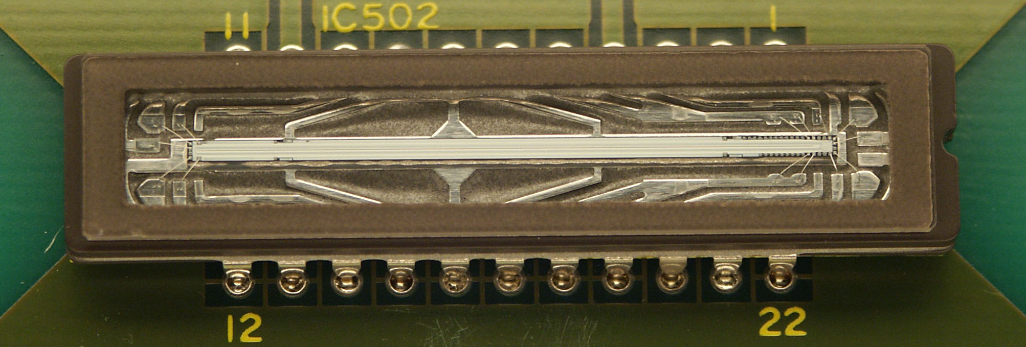 An early single-line CCD sensor, similar to what would've been used in this story.