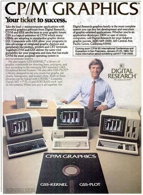 An ad for Digital Research's CP/M Graphics.