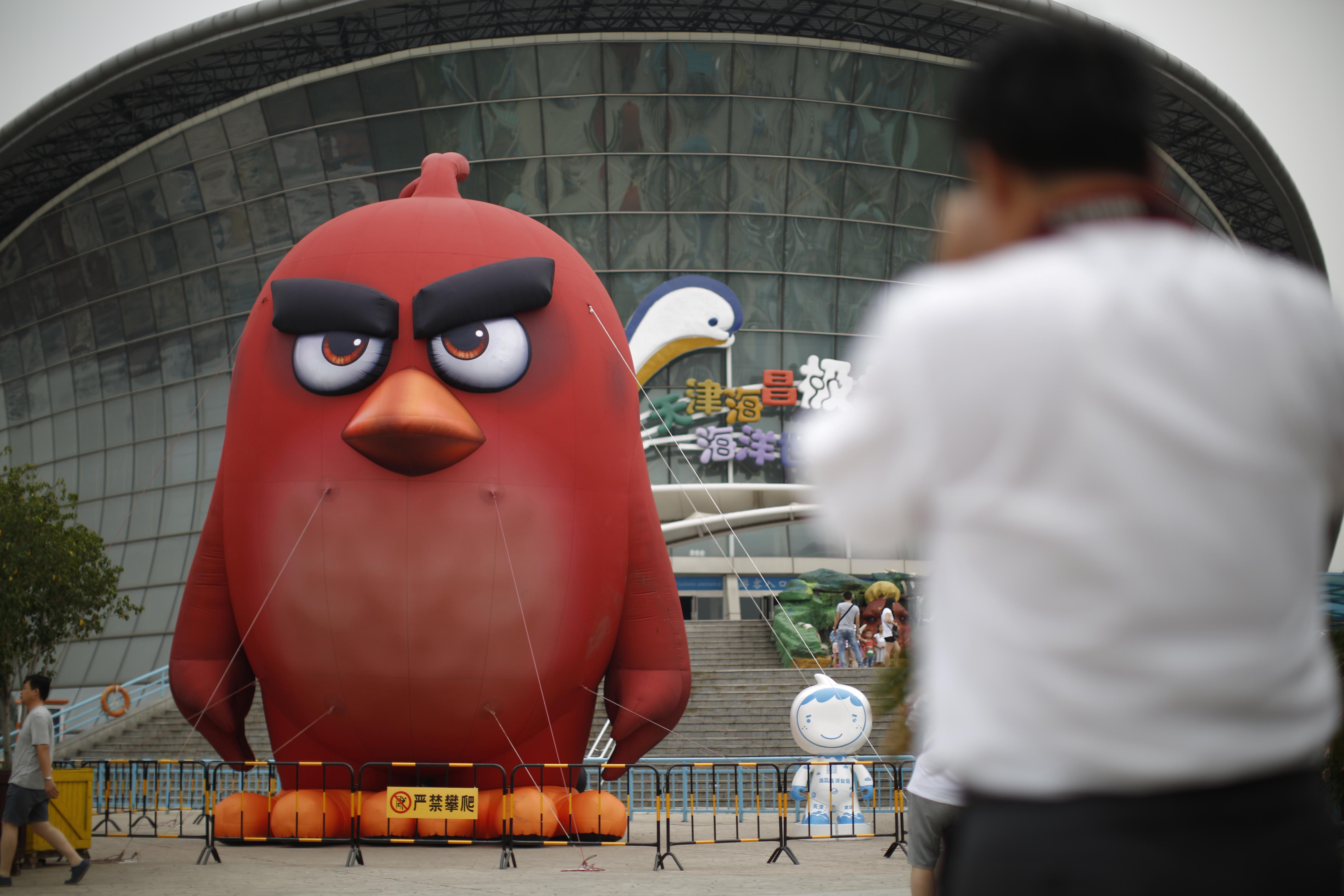 An <em>Angry Birds</em> theme park opened in Tianjin, China in 2016.