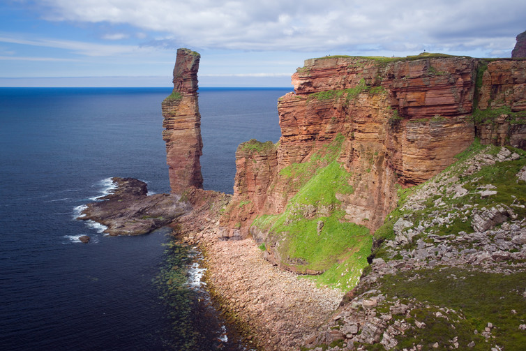 Orkney's Old Man of Hoy was still part of the headland in 1750.
