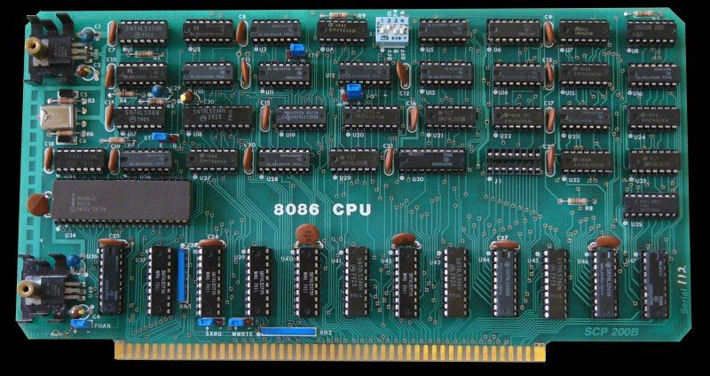 An Intel 8086 card produced by Seattle Computer Products.