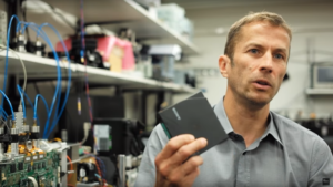 IBM Research Zurich's Mark Lantz, their tape storage expert. Modern tape cartridges are small, just four inches across.