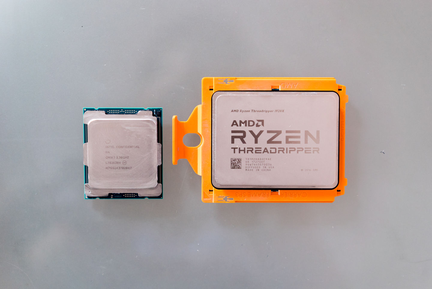 Threadripper's MCM design results in a huge CPU.