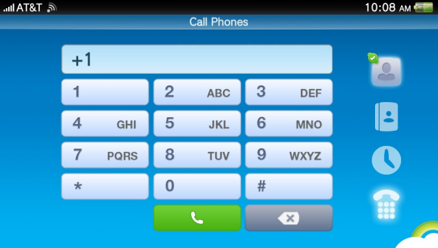 The dialer for the Vita's Skype app requires you to hold the system with two hands