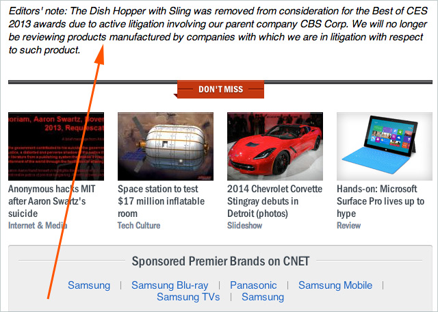 This small graph is what caused a commotion at CNET today.