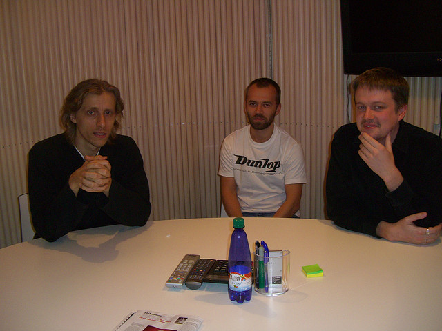 From left to right: Ahti Heinla, Toivo Annus, and Jaan Tallinn.