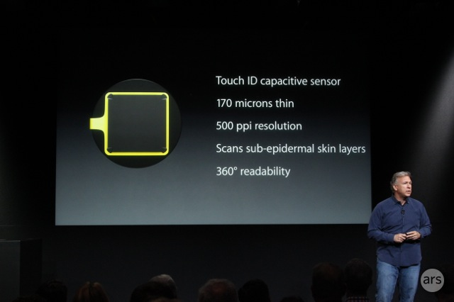 A slide detailing the scanner's features from Apple's presentation