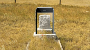 iPhone headstone