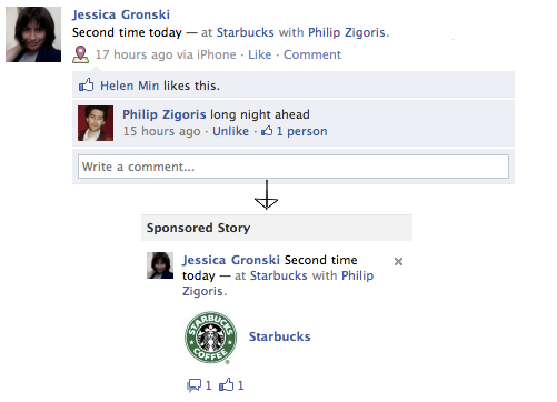 No opting out of Facebook turning your check-ins, likes into ads