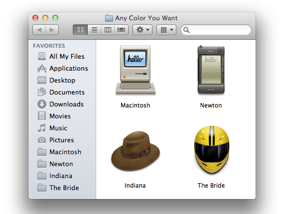 Finder sidebar folder icons