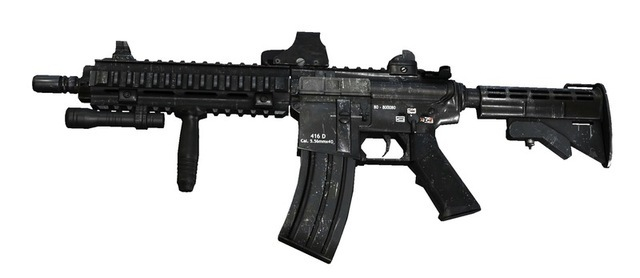 The M29 is best described as a hybrid of previous rifle technology innovations with a gas operated, rotating bolt mechanism for rapid-fire mode and controlled short bursts. The reflex sight allows for quick target acquisition and easy tracking. At 600 rounds per minute, with long range and low dispersion, it is well suited for most combat situations.
