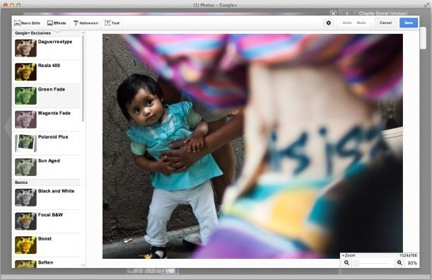 Google+ adds powerful photo editing suite, free