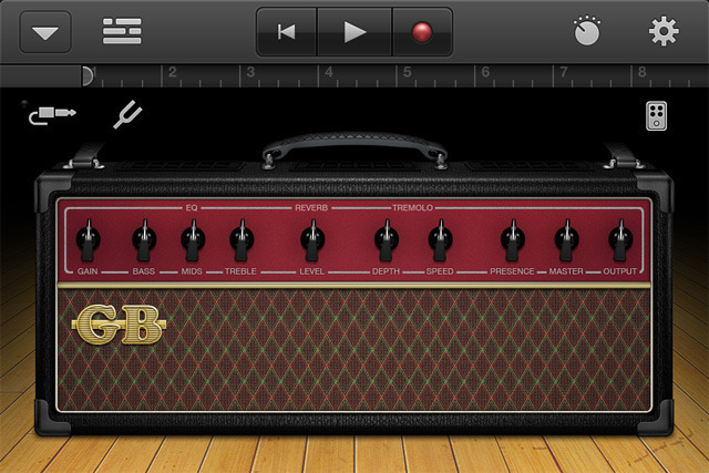 Pick from a variety of virtual amps.