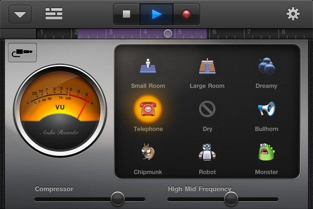 You can record vocals and acoustic instruments easily, but GarageBand on iOS still has effects that are a little too dumbed-down for our taste.