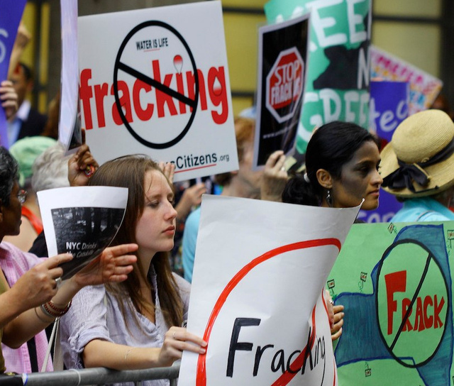 Antifracking sentiment in New York has led to a moratorium on the process there.